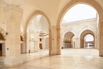 Mosque arcade in Amman, Jordan