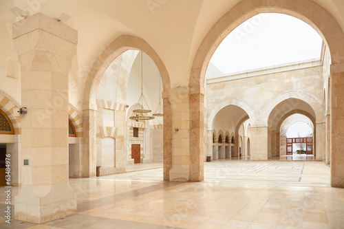 Mosque arcade in Amman, Jordan