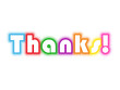 """THANKS!"" Card (thank you very much greetings message gratitude)"