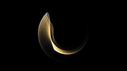 Golden Circle In Motion, Rotating, seamless loop