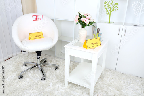 New white furniture with prices