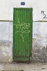 Metal grunge dirty door