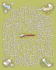Toothpaste Maze Game for children