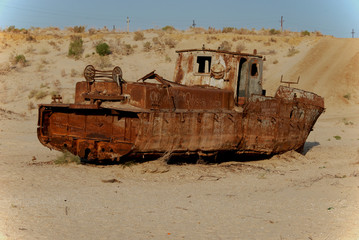 Moynaq ship wreckage