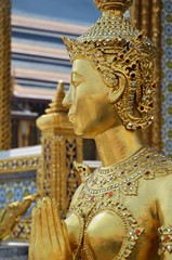 gold statue in grand palace