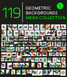 Collection of geometric shape backgrounds