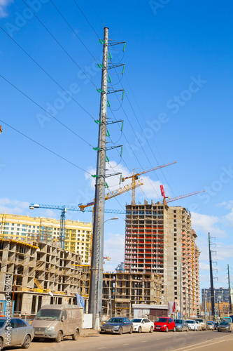 Building. power Lines