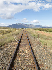 Single railway track. South Africa
