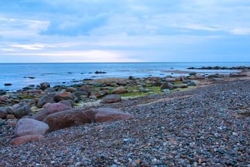 Stony coast of the Baltic Sea
