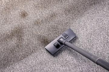 vacuuming very dirty floor