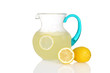 pitcher of lemonade with fresh lemons