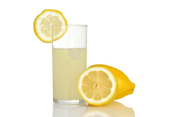 fresh glass of lemonade
