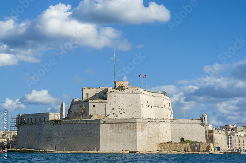 Fort Saint Angelo in Vittoriosa (Birgu), Malta, as seen from the