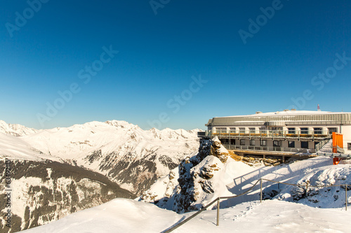 Hotel in ski resort Bad Gastein in  snowy mountains, Austria