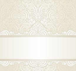 bright wedding vintage ivitation background design