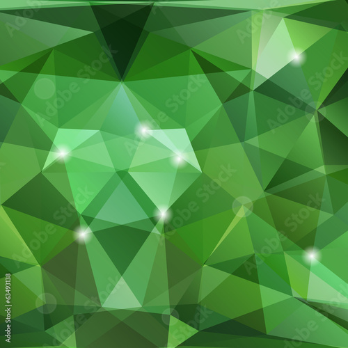 Triangles background with geometric shapes