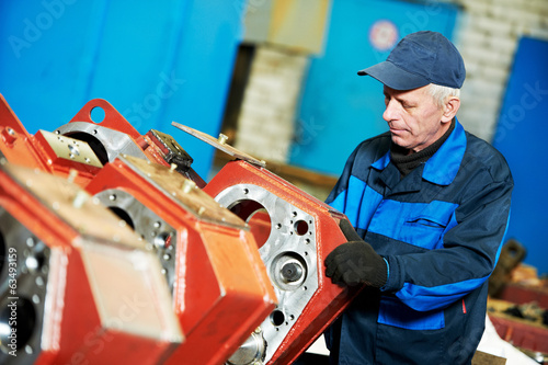 experienced industrial assembler worker