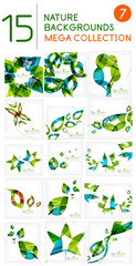Abstract leaf backgrounds mega collection