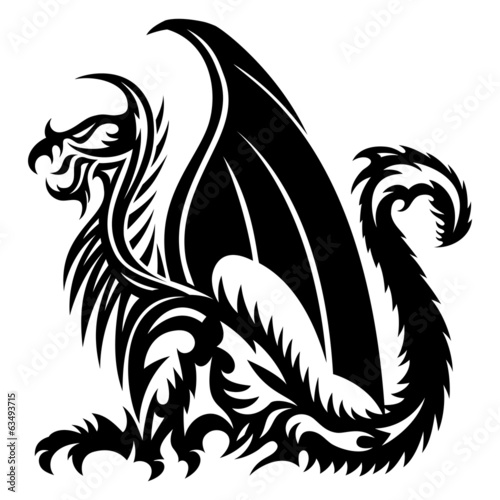 Vector sign. Dragon.