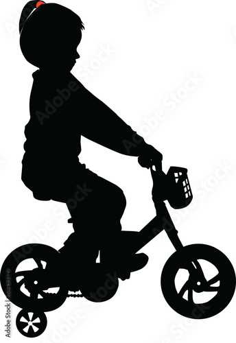 Child on the bike