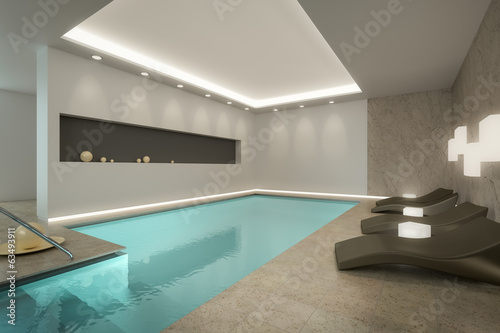 canvas print picture Indoor Pool