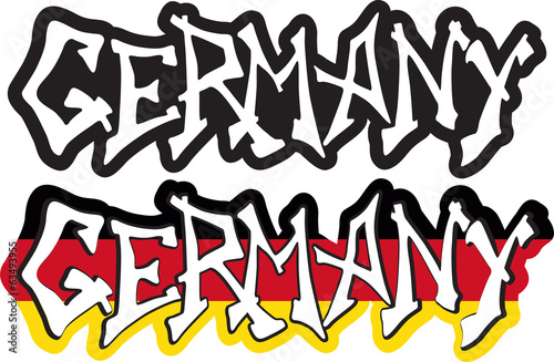 Germany word graffiti different style. Vector