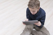 Boy on tablet pc