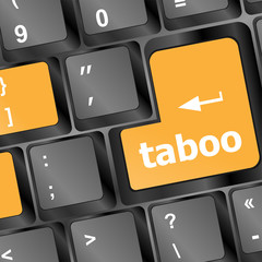 taboo button on computer keyboard pc key