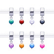 Assorted metal charm bead pendants for necklace or bracelet.