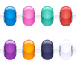 Assorted charm glass beads for necklace or bracelet.