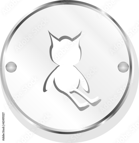 icon button with baby boy inside, isolated on white