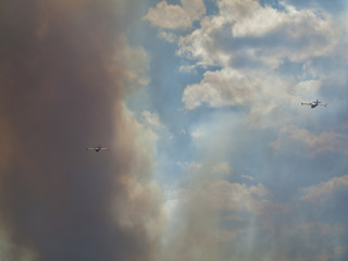 Wildfire in Agullent, Valencia, Spain