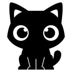 Cartoon Adorable Little Cat Isolated Illustration