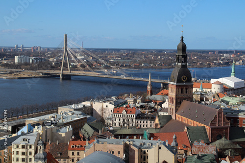 Riga Cathedral, Riga Castle and Daugava River, Latvia