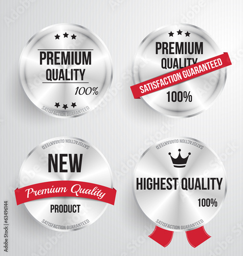 Metal label shopping vector