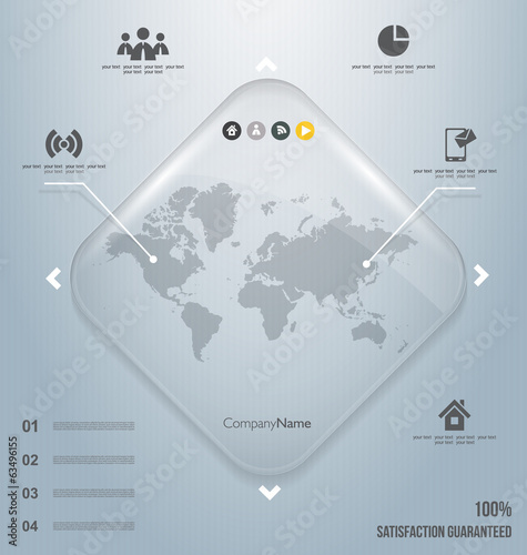 Infographics of the world vector