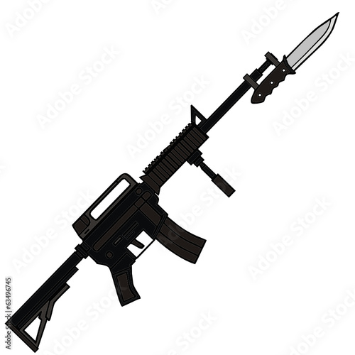 vector drawing of a rifle