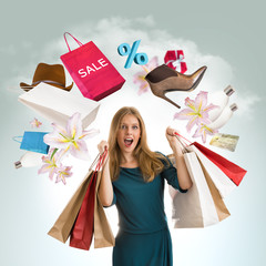 Woman shopping concept