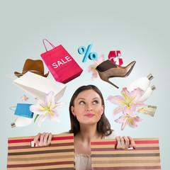 Woman shopping concept