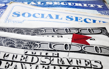 Social Security retirement flag