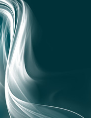 Abstract smoke waves on blue background