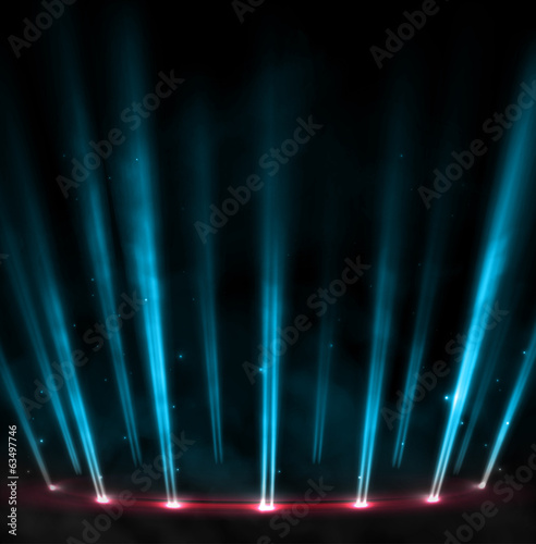Poster Licht, schaduw Stage background