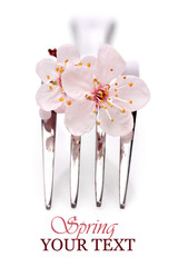 Fork with pink blossom