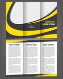 Trifold vector brochure print template design poster