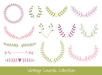 Vector Laurel Branches and Wreaths
