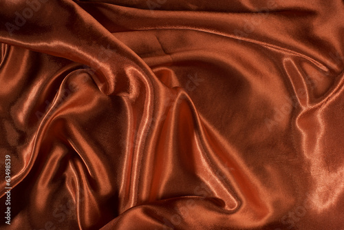 Shiny red satin fabric