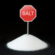 Unhealthy food concept - salt