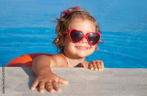 Happy Child Swimming