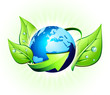 ecology concept in the world - europe