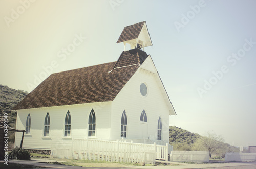 Pioneer style church in USA